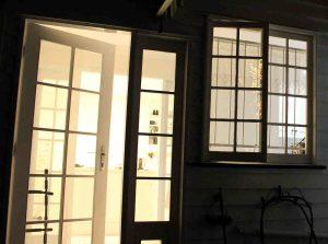 Back lit open door