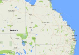 Map of Qld