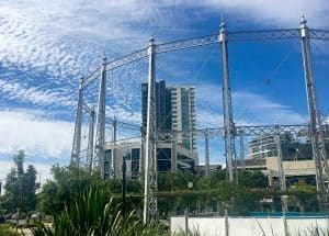 gasometer at gasworks plaza newstead, queensland