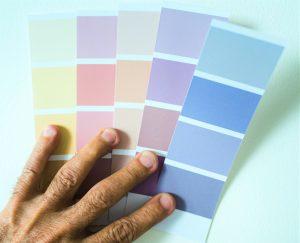 paint colour swatch cards
