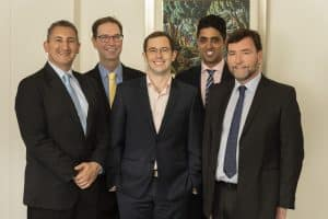 MBIP's Patents team (L-R): Daniel, Brendan, Jeremy, Andy and Michael
