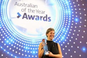 Professor Michelle Simmons with her Australian of the Year Award