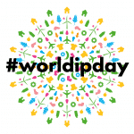 Colourful circular grapic for hashtag World IP day