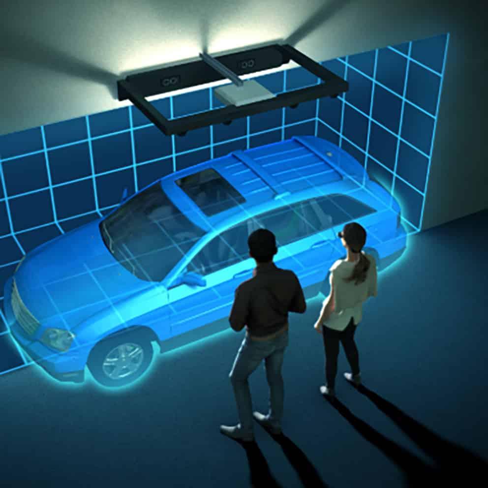 3D representation of car in retail space