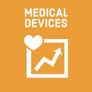 white simplified heart rate monitor symbols (for medical devices) on orange background