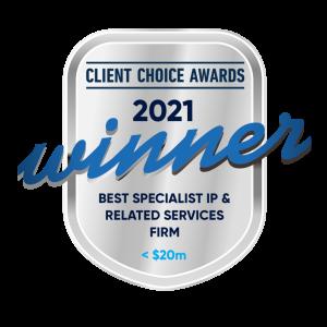 Winners badge 2021 Client Choice Awards