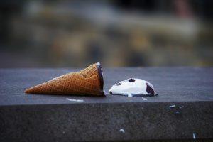 dropped ice cream cone